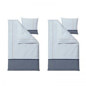 Södahl Connect satinvævet sengesæt 140x220cm i linen Blue