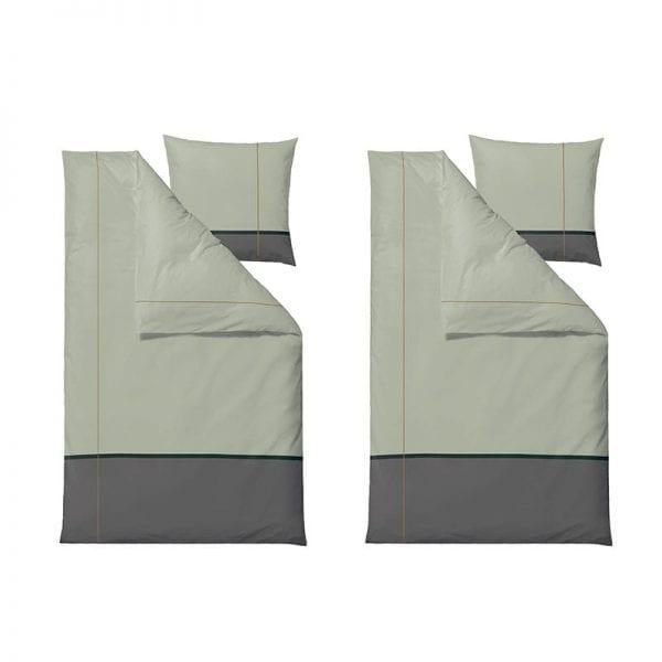Södahl Connect satinvævet sengesæt 140x220cm i tea green