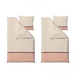 Södahl Connect satinvævet sengesæt 140x220cm i nude