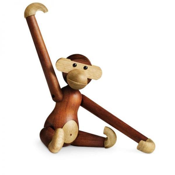 Kay Bojesen Abe mellem stor 33x32cm Teak- og limbatræ. Original mellemstor abe