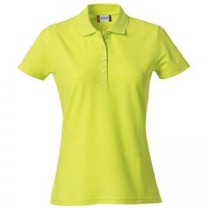 Basic dame polo t-shirt fra CLIQUE - slidstærk og god til dagligbrug. Ses her i farven gul