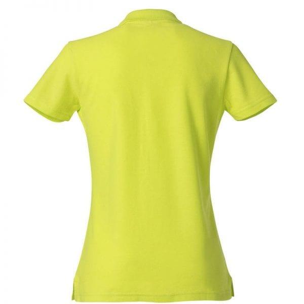 Basic dame polo t-shirt fra CLIQUE - slidstærk og god til dagligbrug. Ses her bagfra i farven gul