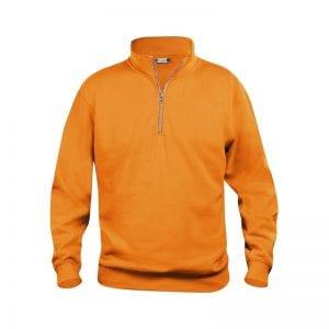 Basic unisex sweatshirt fra CLIQUE - half zip & slidstærk i kraftig kvalitet. Ses her i farven orange