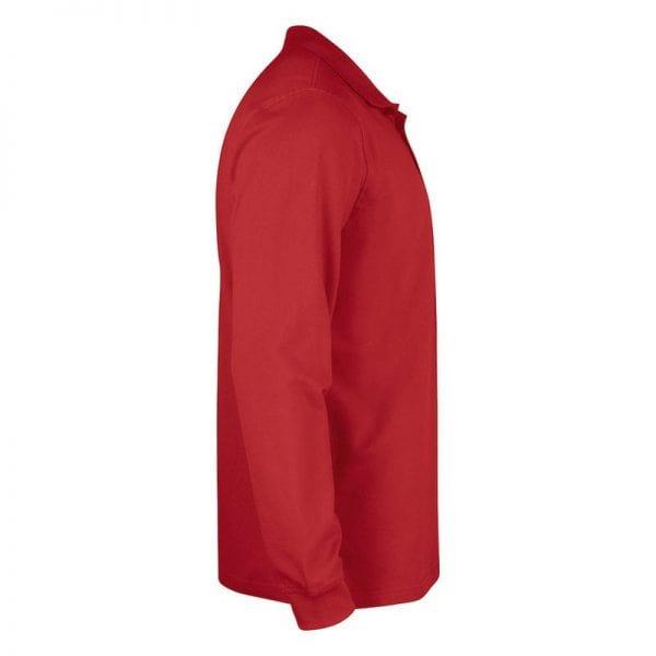Klassisk langærmet polo fra CLIQUE - Stilet & smart. Ses her fra siden i farven rød