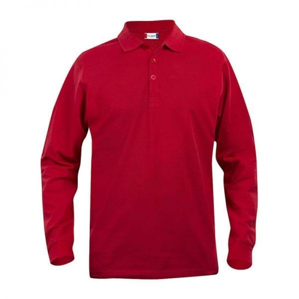 Klassisk langærmet polo fra CLIQUE - Stilet & smart. Ses her i farven rød