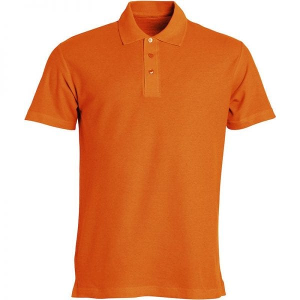 Basic polo t-shirt fra CLIQUE - slidstærk og god til dagligbrug. Ses her i farven orange