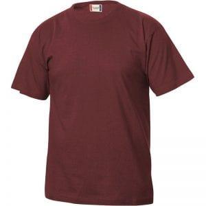 Basic junior T-shirt fra CLIQUE, blød og lækker bomuldskvalitet. Ses her i farven vinrød