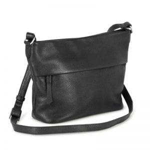 Markberg taske - Etta Crossbody i sort skin fra siden
