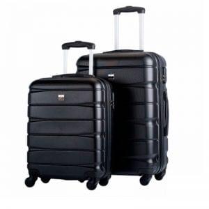 Hardcase Kuffertsæt fra Bon Gout med rullehjul og flexibel håndtag