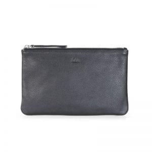Markberg taske - Silja clutch i sort skin