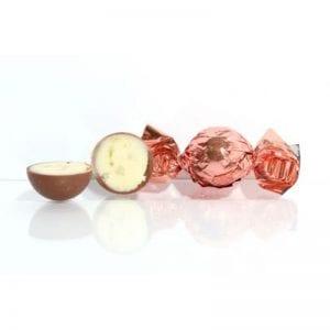 1 kg Fyldt Cocoture chokoladekugle i kobber flødechokolade m/rom & lime