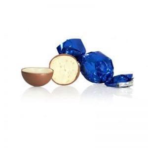 1 kg Fyldt Cocoture chokoladekugle i blå flødechokolade m/yoghurt
