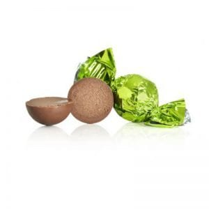 1 kg Fyldt Cocoture chokoladekugle i lysegrøn flødechokolade m/lakrids
