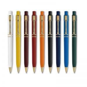 Raja Gold kuglepen med logo, perfekt reklamartikel med logo - vores populære raja kuglepen i alle farver