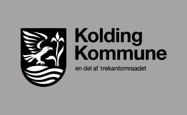 Kolding kommune, en del af trekantsområdet logo portfolio