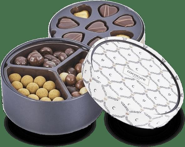 Lækre chokolader i bøtte fra kendte brands