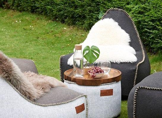 SACKit stemningsbillede med udendørs møbler
