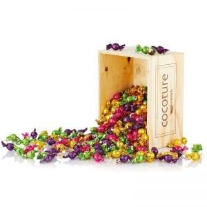 4 kg. chokoladekugler i påskefarver