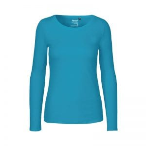 Lyseblå dame langærmet t-shirt fra neutral