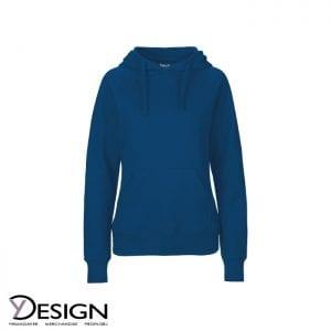 Mørkeblå dame hoodie fra neutral