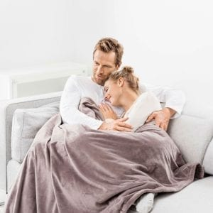 Lækkert tæppe med varme i fra Beurer