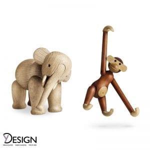 Kay Bojesen abe og elefant lille, ubehandlet eg