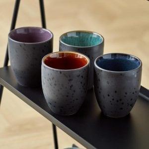 Bitz Termokopper amber, lilla, mørkeblå og grøn inderside fra Y-design
