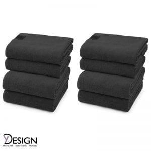 BLACK LABEL håndklæder 50x100 cm og 70/140 cm fra Y-design