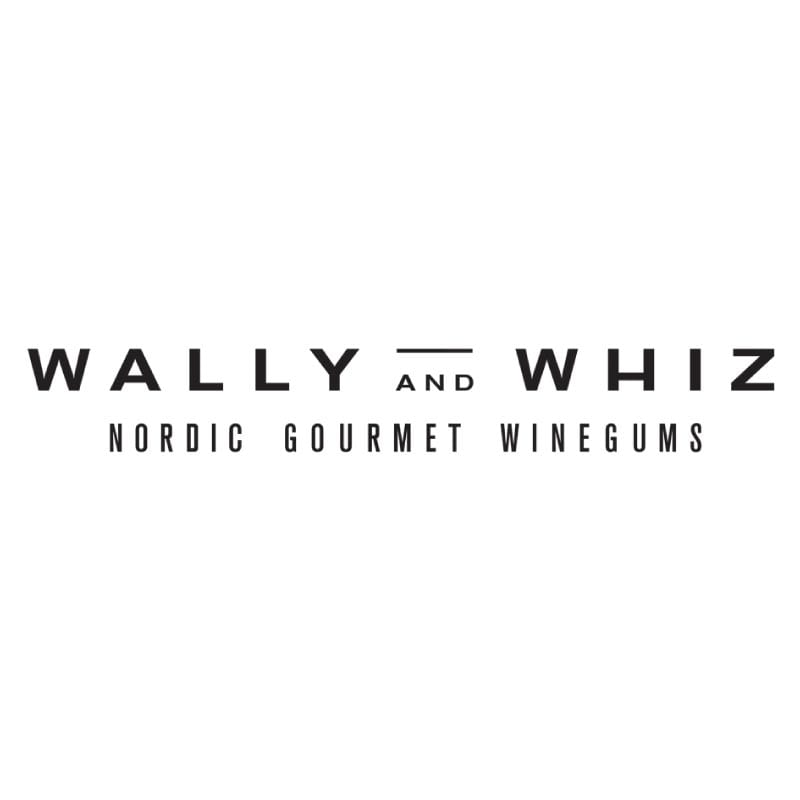 Wally And Whiz logo sort og hvid fra Y-design