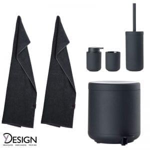 Badserien Ume fra Zone Denmark og GJD håndklæder fra Y-design