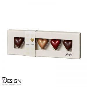Xocolatl 3125 Golden Heart 5 Stk. fra Y-design