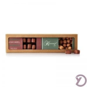 20201050 Karamjel Fabrikken 2 Stk. Med Fløde Cjokolade Og Lakrjds Med Chokolade fra Y-design