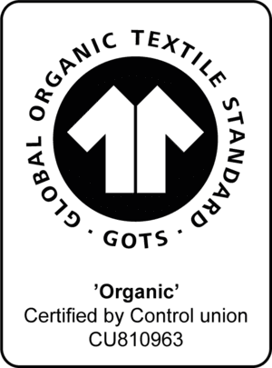 Dette er et billede af certifikatet for Global Organic Textile Standard (GOTS)