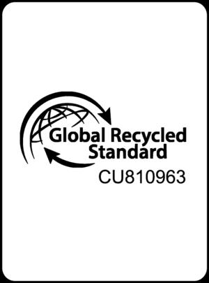 Dette er et billede af certifikatet for Global Recycled Standard