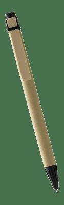 Dette er et billede af Salvador kuglepennen, som er lavet af genbrugeligt pap.